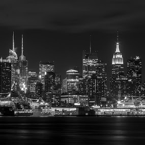Ships in Port by Dominick Bianco - Black & White Buildings & Architecture (  )