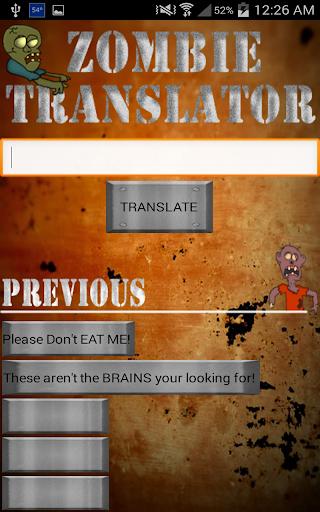 Zombie Translator