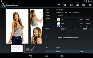 Screenshot of TapStyle for hair salon