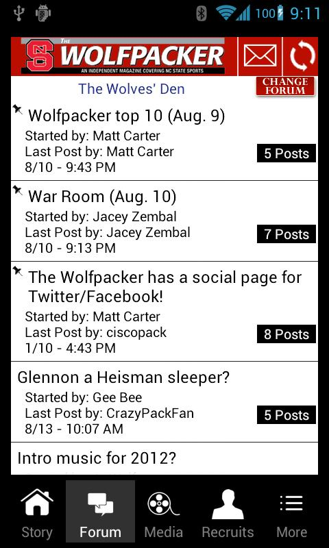 The Wolfpacker Mobile- screenshot