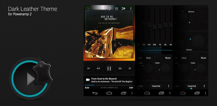 Poweramp Dark Leather Theme