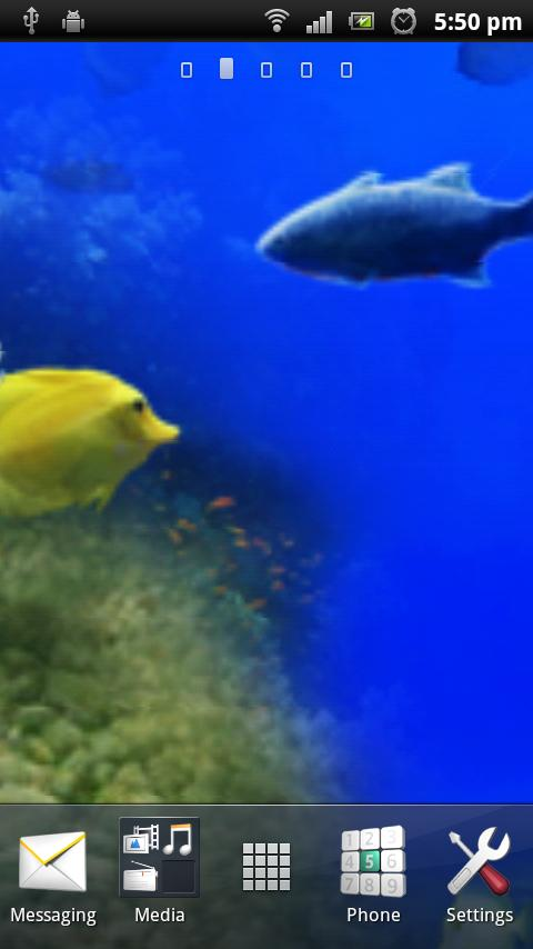 Aquarium Live Wall Paper 3D - screenshot