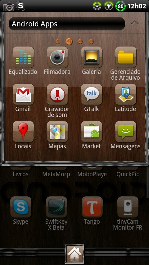 Theme Woodroid GO Launcher EX- screenshot