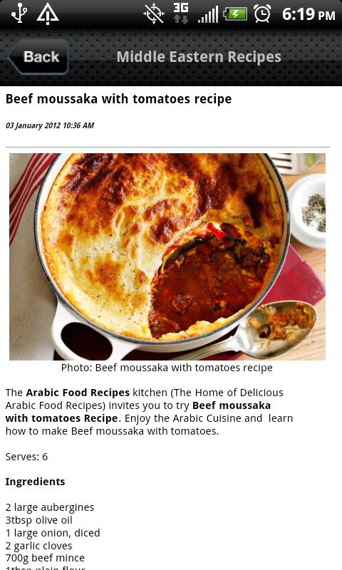 Middle Eastern Recipes - screenshot