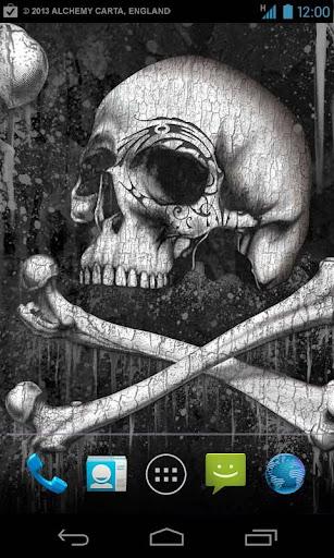 Skulls Live Wallpaper - FREE