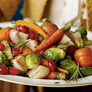 Cranberry Roasted Winter Vegetables.
