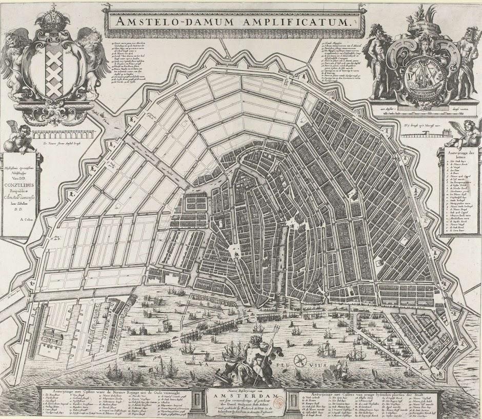 Amsterdams Prosperity Timeline Dutch History - Amsterdam old map