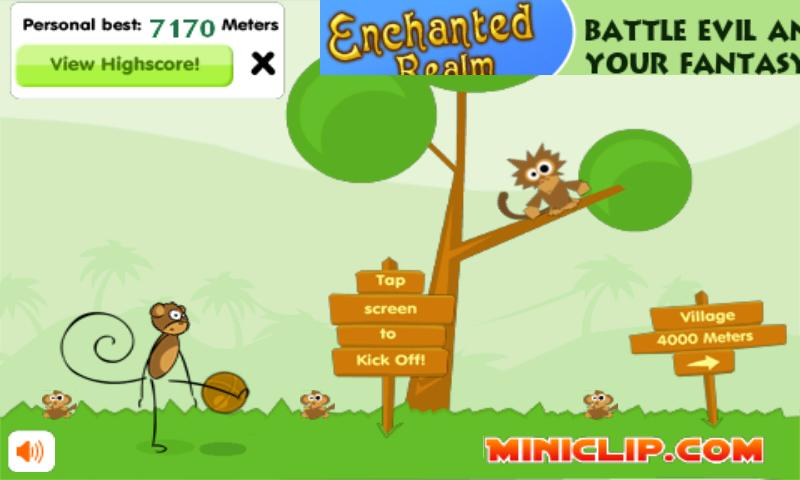 Monkey Kick Off -FREE fun game- screenshot