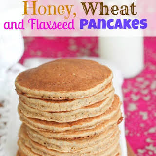 Honey, Wheat and Flaxseed Pancakes {Healthy}.