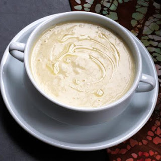 Cauliflower, Potato, and Cheddar Soup
