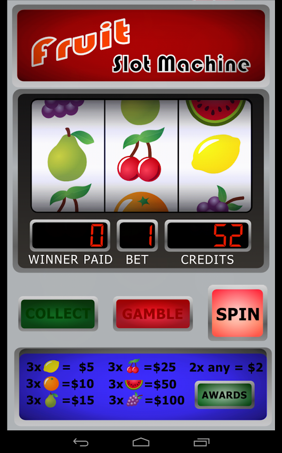 Fruit Machine- screenshot