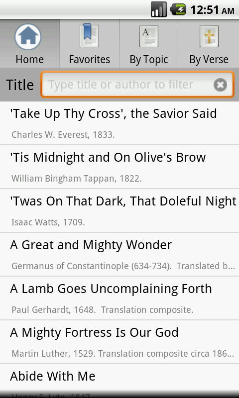 Open Hymnal Lite - screenshot