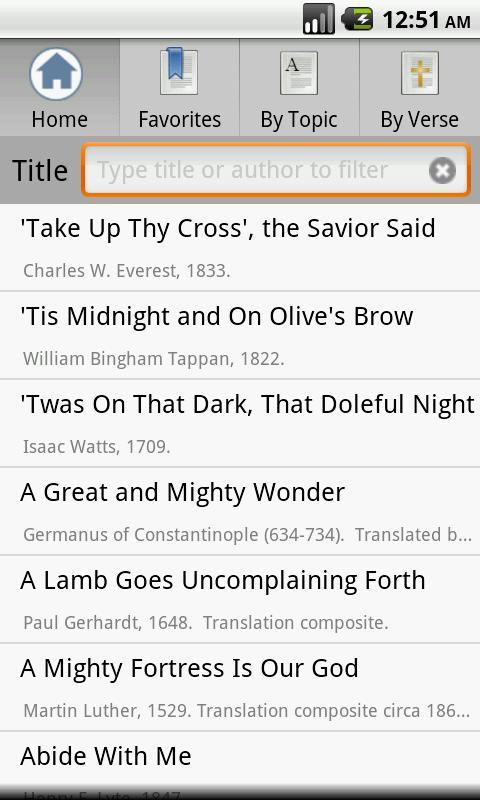 Open Hymnal Lite - screenshot