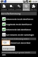 Screenshot of Anteid Donate Caller ID