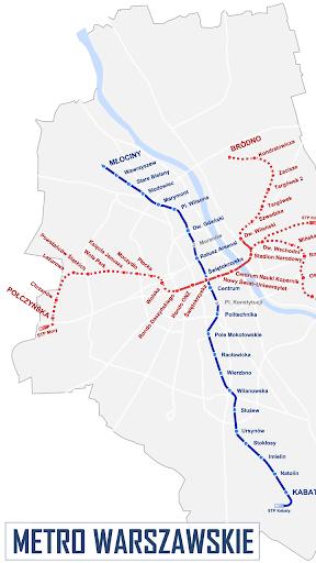 바르샤바 지하철 노선도