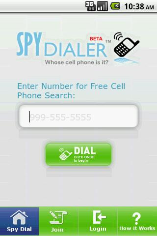 Spy Dialer - screenshot