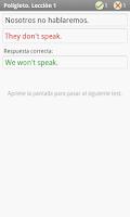 Screenshot of Polígloto. Inglés. Lección 1
