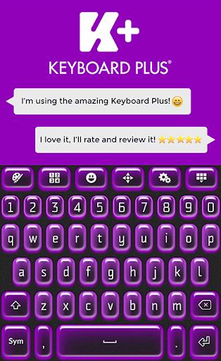 键盘加霓虹灯紫