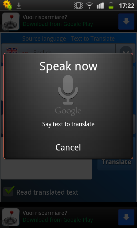 Interpreter- translator voice - screenshot