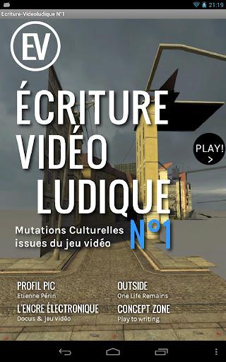 Écriture-Vidéoludique N°1