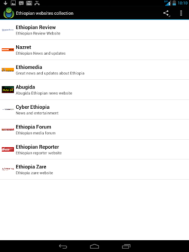 Ethiopian websites collection