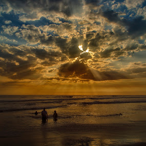 A Dreamy Sunset by Gabriel Cabrera - Landscapes Sunsets & Sunrises ( sun set, sun light, beach, landscape )