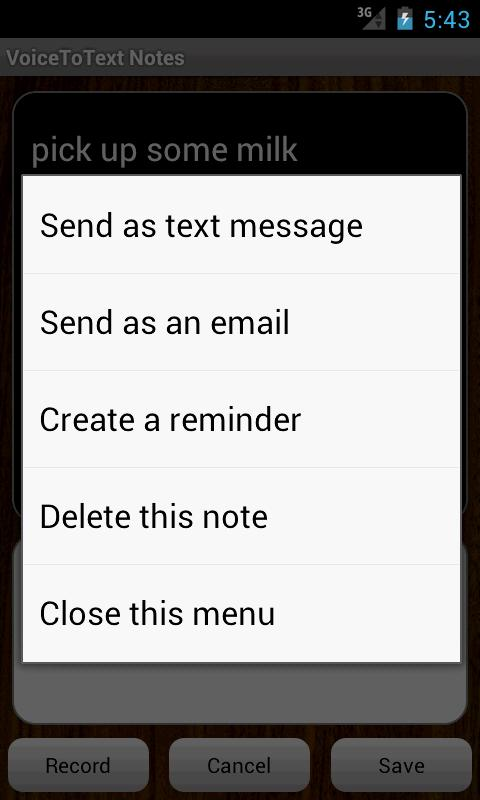 VoiceToText Notes- screenshot