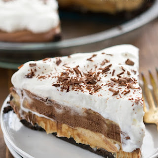 No Bake Peanut Butter Chocolate Cream Pie
