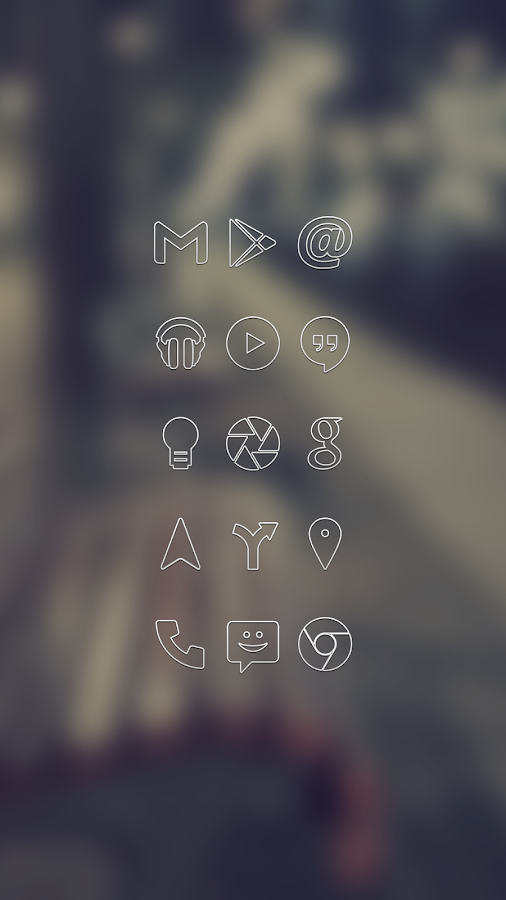 White Line Go Apex Nova Theme - screenshot