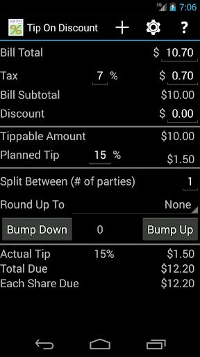 Tip On Discount