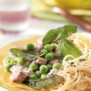 Pasta met Gorgonzola en salie