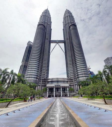 Petronas-Twin-Towers - You can walk across the Petronas twin towers 557 feet above the ground in Kuala Lumpur, Malaysia.