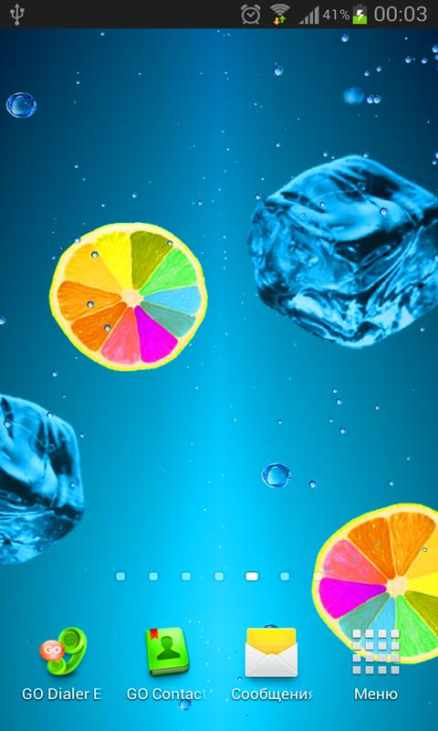 Juice PRO live wallpaper - screenshot