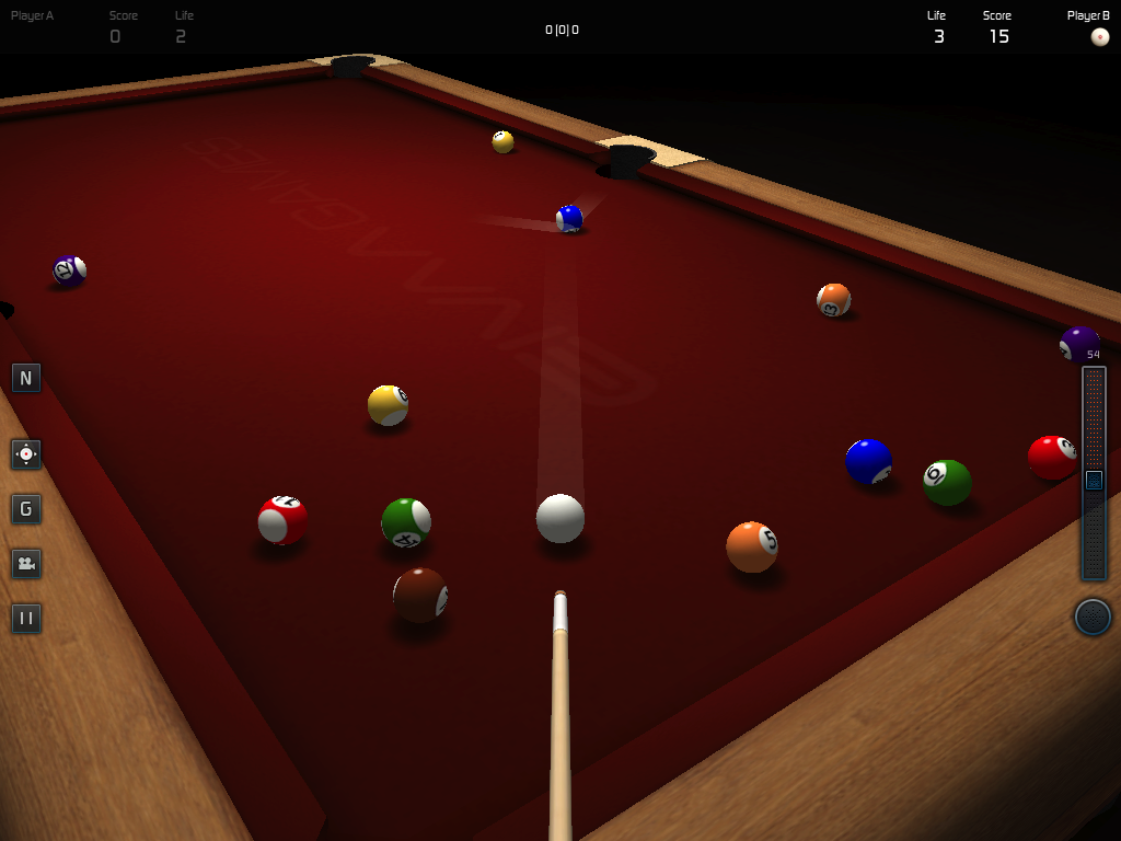 3D Pool Game - screenshot