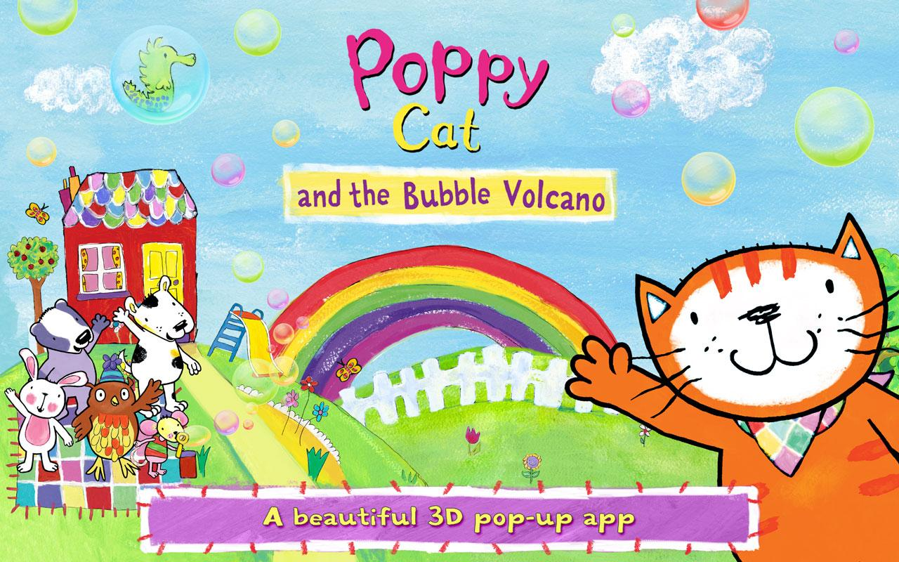 Poppy Cat Bubble Volcano Free- screenshot