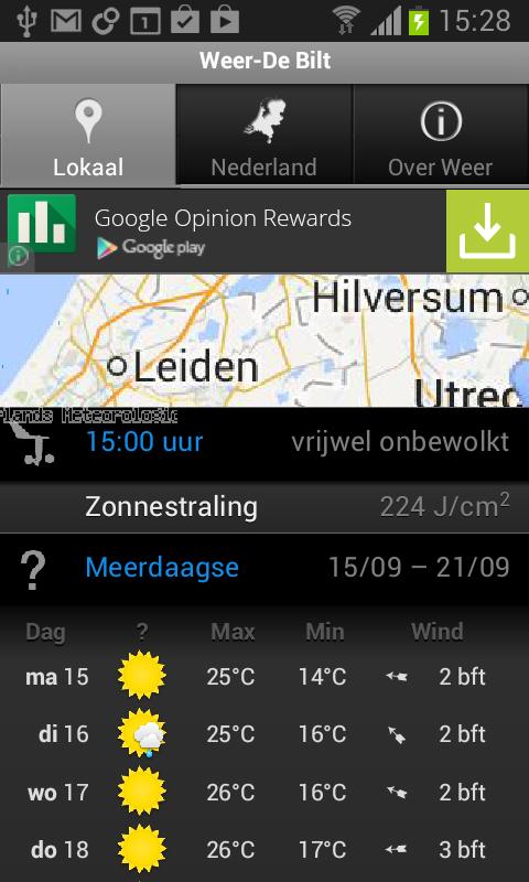 Weer - screenshot