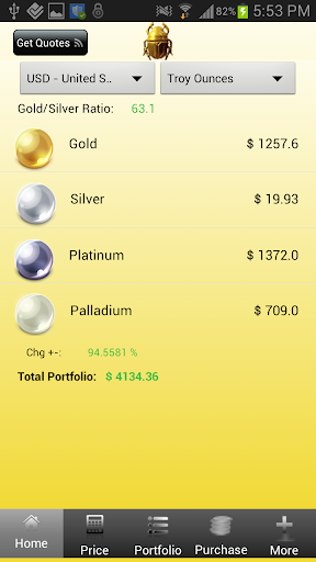 Precious Metal Coin Prices