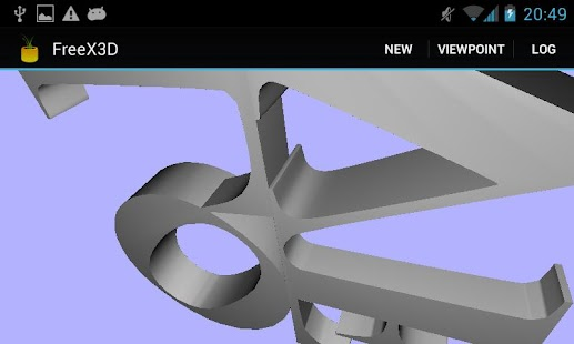 FreeX3D: VRML, X3D, STL Viewer - screenshot thumbnail
