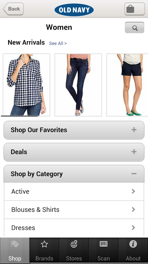 Old Navy - screenshot