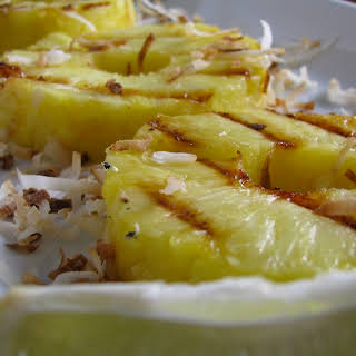 Grilled Pineapple with Toasted Coconut and Lime.