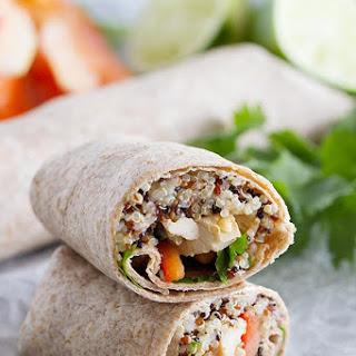 Thai Chicken Wraps with Quinoa.