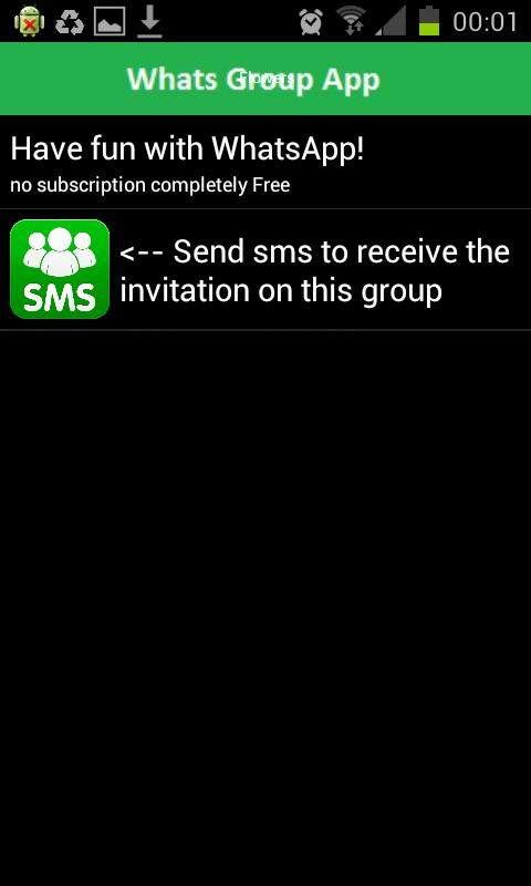 WhatsGroups App - screenshot