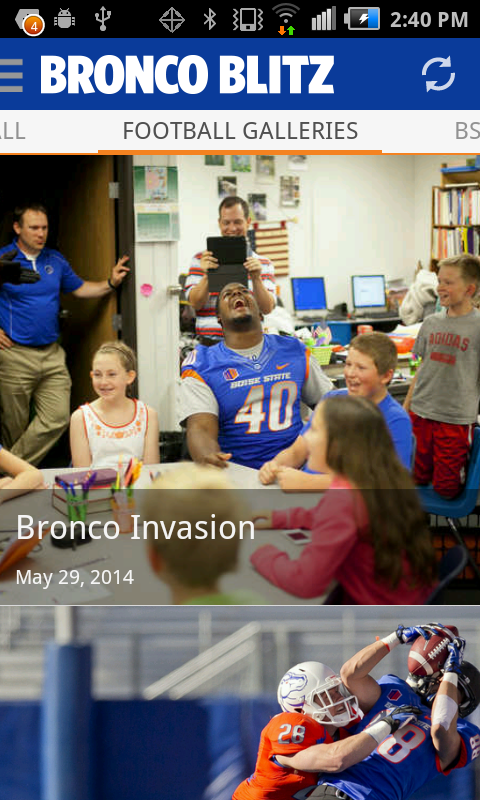 Bronco Blitz - BSU sports news - screenshot