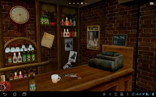 Screenshot of Saloon 3D Live Wallpaper