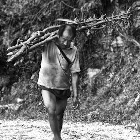 Hardworking by Pritam Saha - People Professional People ( face, black n white, photo, people, pheonix,  )