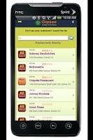 Screenshot of Interactive Food Allergy Menus