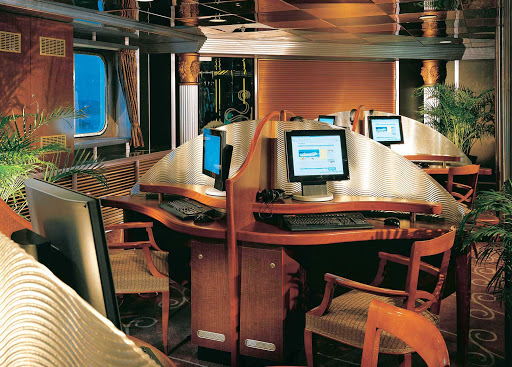 Carnival-Fascination-Internet-Cafe - Carnival Fascination's Internet Cafe can keep you connected to family and loved ones.