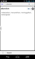 Screenshot of English Malay , Malay English
