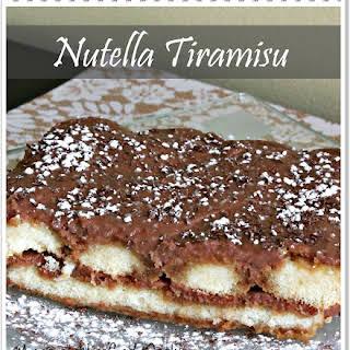 Nutella Tiramisu.