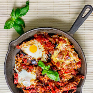 The Best Eggplant Shakshuka